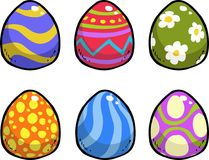 Doodle easter eggs. On a white background vector illustration Stock Image