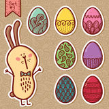 Doodle easter eggs. Stock Photography