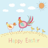 Doodle Easter Illustration Royalty Free Stock Photography