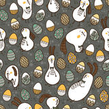 Doodle Easter pattern. Royalty Free Stock Photography