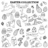 Doodle easter vector collection Stock Photo