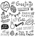Doodle Easter. Royalty Free Stock Photo