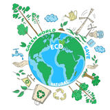 Doodle Ecology Concept Stock Photography