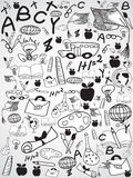 Doodle education background Stock Photos
