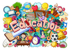 Doodle on Education concept Royalty Free Stock Photos