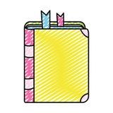 Doodle edukacji przedmiota szkoły książkowy narzędzie ilustracji