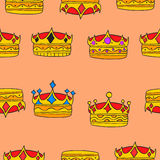 Doodle elegant crown collection stock Stock Photo