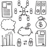 Doodle of element business hand draw Stock Photo