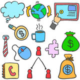 Doodle of element business various collection Stock Photo