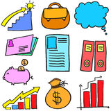 Doodle of element business various set Stock Photos