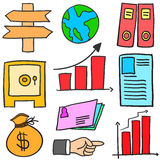 Doodle of element business various vector design Stock Photo