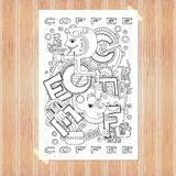 Doodle element with concept of a creative idea. Stock Photography
