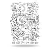 Doodle element with concept of a creative idea. Royalty Free Stock Photo