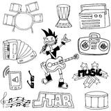 Doodle of element music set Royalty Free Stock Images