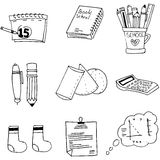 Doodle element school education Royalty Free Stock Image