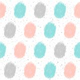 Doodle element seamless background. Abstract childish blue, grey. And pink shape pattern for card, invitation, wallpaper, album, scrapbook, holiday wrapping royalty free illustration