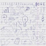 Doodle elements of business infographic Royalty Free Stock Image