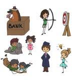 Doodle elements. Set of doodle style design elements Royalty Free Stock Photography