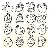 Doodle emotion art Stock Image