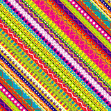 Doodle ethnic and colored seamless background Stock Photos