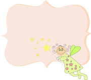 Doodle Fairy with blank frame Royalty Free Stock Photography