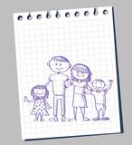 Doodle of family Royalty Free Stock Photo