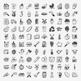 Doodle farming icon set Royalty Free Stock Photos
