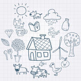Doodle farming Royalty Free Stock Photography