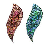 Doodle Feather Stock Images