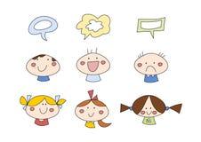 Doodle fijado: Niños Fotos de archivo libres de regalías