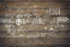 Doodle finance business elements Royalty Free Stock Image