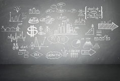 Doodle finance business elements. Hand-drawn Stock Images