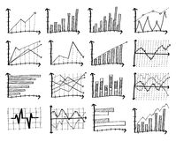 Doodle Finance Graph. Doodle Finance Graph, Vector Illustration EPS 10 Stock Images