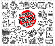 Doodle Finance icons Royalty Free Stock Photography