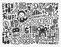 Doodle Finance pattern. Cartoon vector illustration Royalty Free Stock Photos