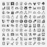 Doodle financial icons vector illustration