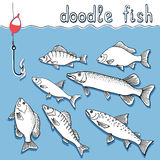 Doodle fish Royalty Free Stock Image