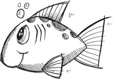 Doodle Fish Vector Royalty Free Stock Photo