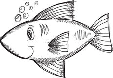 Doodle Fish Vector Stock Image