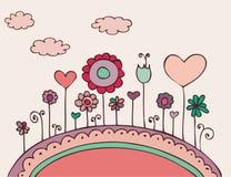 doodle floral καλός Στοκ Φωτογραφία