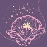 doodle floral μοντέρνος Στοκ Φωτογραφίες