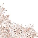 Doodle floral Imágenes de archivo libres de regalías