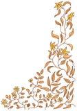 Doodle floral Imagen de archivo