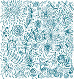 Doodle floral background Royalty Free Stock Images