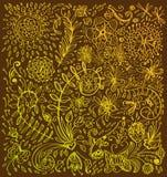 Doodle floral background Stock Image