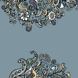 Doodle floral background Stock Images