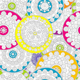 Doodle floral background Stock Photos