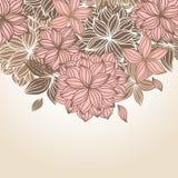 Doodle Floral Background Vintage Royalty Free Stock Image