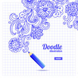 Doodle floral design Royalty Free Stock Images