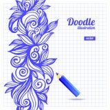 Doodle floral design Stock Image